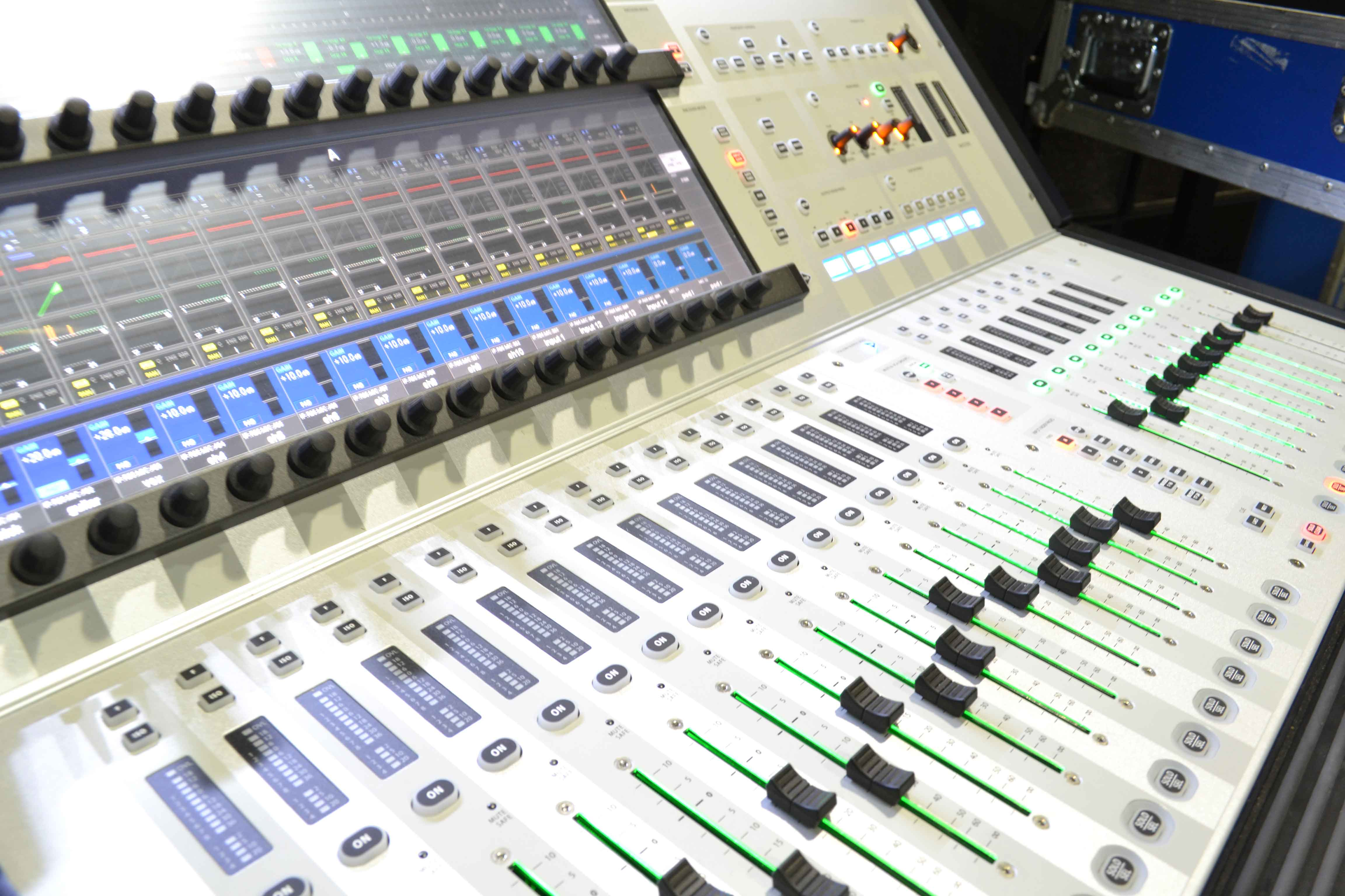 The Soundcraft Vi1 is proving to be one of our favourite new workhorses. With a 64 channel digital stage box it's easy to install, reliable, tidy and will handle the biggest jobs.